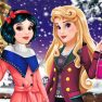 Aurora and Snow White Winter Fashion