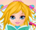 Baby Barbie Frozen Hair Salon