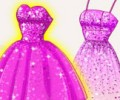 Super Barbie's Glittery Dresses
