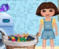 Dora Washes Clothes