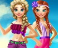 Elsa And Anna Summer Vacation